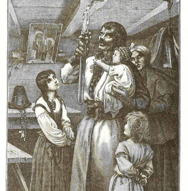 Ilustracja: Wojciech Grabowski, W dzień Matki Boskiej Gromnicznej, w: Zygmunt Gloger, Rok polski w życiu, tradycji i pieśni, Warszawa 1900.