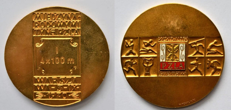Medal Zbigniewa Orywała: I miejsce/ Międzynarodowy Mityng PZLA Warszawa 1970 (sygn. MRW-RN/343).