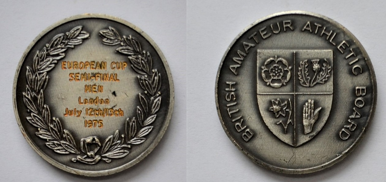 Medal Zbigniewa Orywała: European Cup Semi-Final Men/ London 1975 (sygn. MRW-RN/348).
